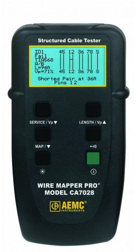 AEMC 7028 Wire Mapper Pro LAN Cable Tester