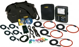 AEMC 8335 PowerPad Three Phase Power Quality Analyzer Kit with 4x Ampflex 193-36-BK CTs (6500A)