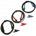AEMC 2119.76 Safety Leads with Alligator Clips for AEMC Megohmmeters, Set of 3, Colour Coded, 10ft