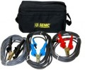 AEMC 2119.86 Test Leads with Hippo Clips for the 5050/5060/5070 & 6505, Set of 3, Colour Coded, 25ft