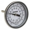 Baker T30025-250 Bimetal Thermometer, 0 to 250°F (-20 to 120°C)