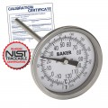 Baker T3006-250 Bimetal Thermometer, 0 to 250°F (-20 to 120°C) with NIST Traceable Certificate
