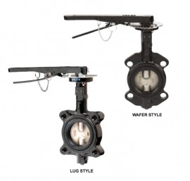 "Dwyer BFV205WFB341HL0 Wafer Style Butterfly Valve (5"") with PTFE Liner"
