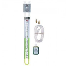 "Dwyer 1221-20-D U-Tube Manometer (10-0-10""w.c.) using red gauge fluid"