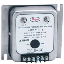 "Dwyer 607-1 Differential Pressure Transmitter (0-.25""w.c.) with NIST Traceable Certificate"