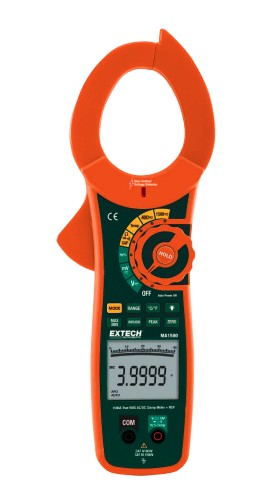 Extech MA1500 True RMS AC/DC Clamp Meter plus NCV, 1500A
