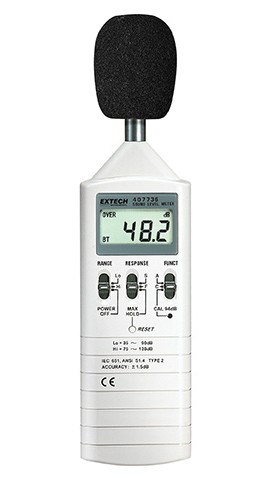 Extech 407736 Dual Range Sound Lever Meter Sound Level Meter, 1.5dB