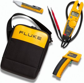 Fluke T5-600/62/1AC IR Thermometer, Electrical Tester and Voltage Detector Kit