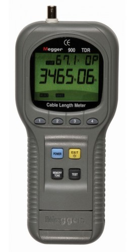 Hand Held Electrical Meters : Megger tdr hand held time domain reflectometer cable