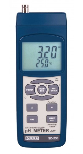 Electronic Water Meter Data Log : Reed instruments model sd digital ph orp data