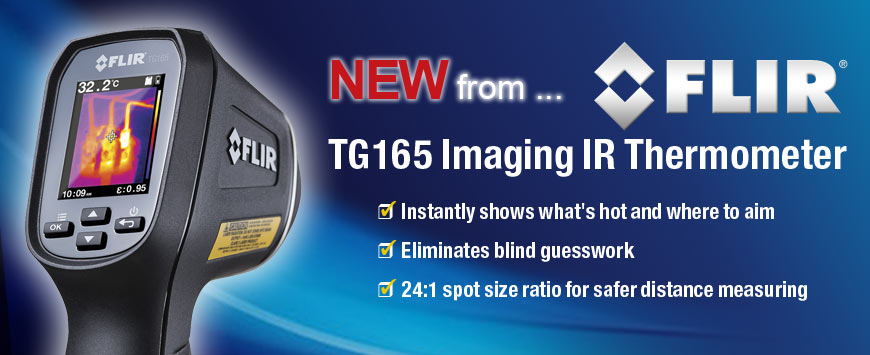 The New FLIR TG165 IR Thermal Imaging Camera