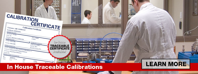 Calibration and certification services provided by qualified and skilled electronics technicians.