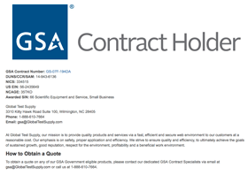 GSA Government Contact Holder