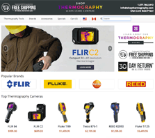 ShopThermography.com - Carrying thermography tools from brands like FLIR, Fluke, Testo and REED