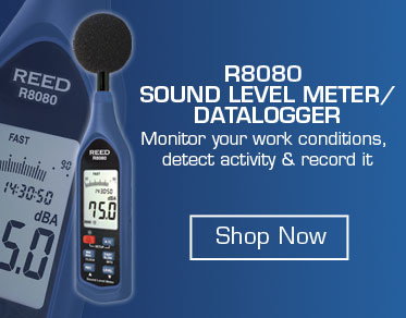 Learn more about our REED R8080 Sound Level Meter and Datalogger