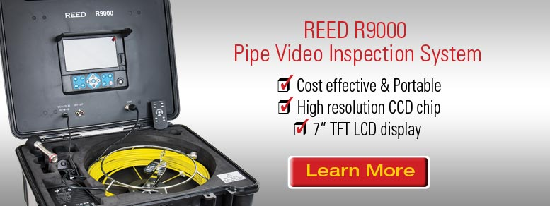 Learn more about our REED R9000 Pipe Video Inspection System