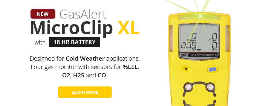 The New BW GasAlert MicroClip XL Gas Detector