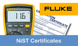 Calibration certificates available now, with most Fluke Products
