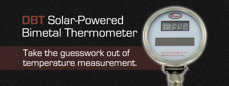 Dwyer DBT Solar Powered Bimetal Thermometer