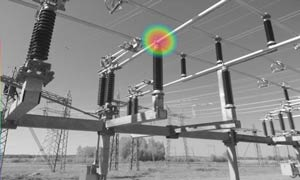 An acoustic image of electrical substation