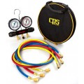 CPS MT2H7P5A Manifold and Gauge Set, 5ft ABB Hoses-