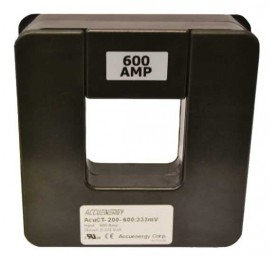 "Accuenergy AcuCT-200-600:333 Split Core Current Transformer, 2 x 2"", 600 A:333 mV-"