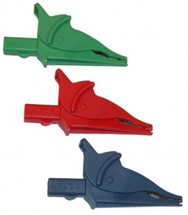AEMC 2140.70 Clip - Set of 3, Color-coded Alligator Clips (red, blue & green) for use w/C.A 6116-