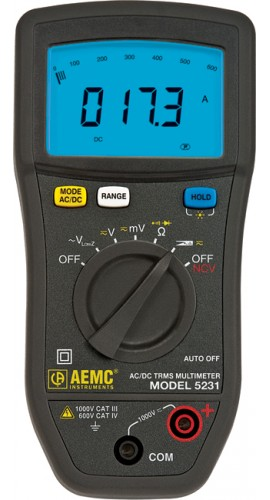 AEMC 5231 True RMS Multimeter with Non-Contact Voltage Detection-