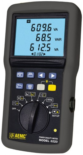 AEMC 8220 Single Phase Portable Power Analyzer