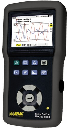 AEMC 8230 Single Phase Power Quality Analyzer with SR193 CT (1200A)