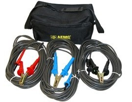 AEMC 2119.87 Test Leads with Hippo Clips for the 5050/5060/5070 & 6505, Set of 3, Colour Coded, 45ft-