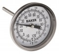 Baker T3004-250 Bimetal Thermometer, 0 to 250°F (-20 to 120°C)-