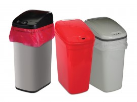 Bel-Art 13202-0020 Touch-Free Automatic Waste Can with lid, 7.3 gal-