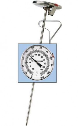 Digi-Sense 08080-96 Stainless-Steel Bimetal Pocket Thermometer, -40 to 160°F, 2°F Division-