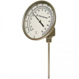 "Digi-Sense 08084-02 TI.32 Silicone-Filled Bimetal Thermometer with Adjustable Angle, 25 to 125°F, 12"" Stem-"