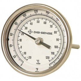 "Digi-Sense 08139-03 TI.30 Back-Connect Bimetal Thermometer, 50 to 300°F, 4"" Stem-"