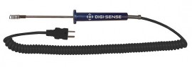 "Digi-Sense 08439-90 Compact Type-J Air/Gas Thermocouple Probe with 5"" Sheath, Exposed Junction-"