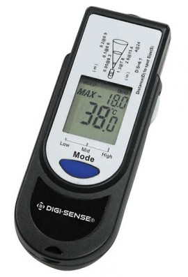 Digi-Sense 39643-00 Palm-Sized Infrared Thermometer, -67 to 662°F-