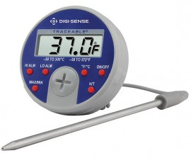 Digi-Sense 90205-21 Traceable Deluxe Remote Probe Thermometer, -58 to 572°F-