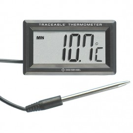 Digi-Sense 90205-26 Traceable Panel-Mount Remote Probe Thermometer, -58 to 572°F-