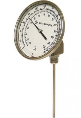 "Digi-Sense 90496-03 Adjustable Bimetal Thermometer, 50 to 300°F, 24"" Stem-"