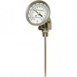 "Digi-Sense 90550-41 Adjustable Bimetal Thermometer with Dampened Movement, 0 to 250°F, 9"" Stem-"