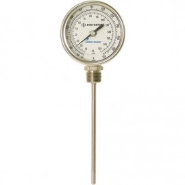 "Digi-Sense 90551-36 Silicone-Filled Bottom-Connect Bimetal Thermometer, 50 to 300°F, 9"" Stem-"