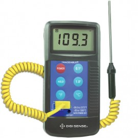 Digi-Sense 91210-45 Traceable Workhorse Thermocouple Thermometer, Type K, -58 to 2,372°F-