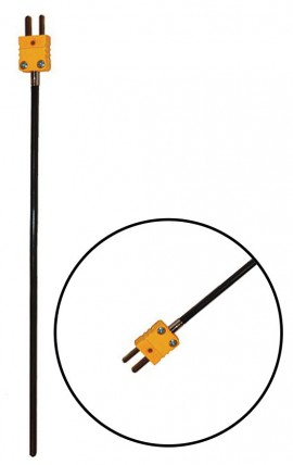 "Digi-Sense 93810-02 Type-K Detachable PFA-Coated Probe with Mini Connector, 8"", 0.145"" Diameter-"