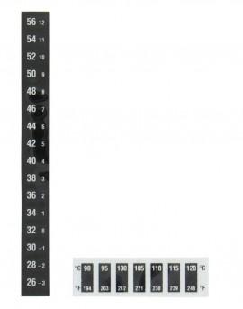 KS-0402 Pack of 10 16 Level Vertical 58-88/°F Dwyer Reversible Temperature Strips 14-31/°C
