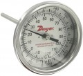 Dwyer BTB2409D Bimetal Thermometer with Back Connection (200-1000°F)-