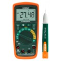 Extech MN62-K True RMS Multimeter/NCV Detector & AC Voltage Detector Kit-