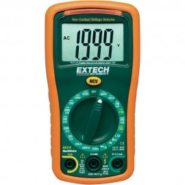 Extech EX310 Manual Ranging MultiMeter and Voltage Detector, 600V/10A-