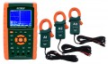Extech PQ3470-12 Power Analyzer Kit with Set of 3 Current Clamp Probes, 1200A-